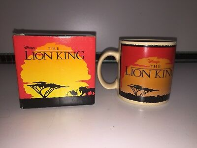 Disney The Lion King - RARE Logo Mug APPLAUSE boxed VGC