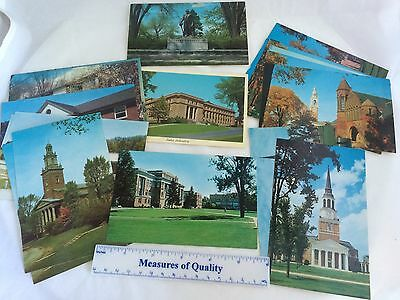 lot 24 College Souvenir Postcard Cornell Bowling Green University of Vermont y9