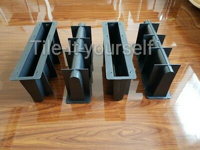 *set Of 4* Double Straight Garden Edging Concrete Mould Divider Flower Arranger