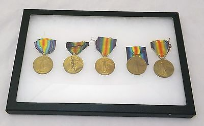 Lot Of 5 WW British Victory Medals - Named - A.S.C - R. War R.- R.N. - RIF. Brig