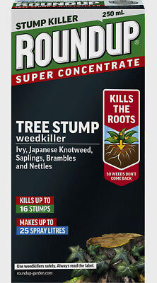 2 x Roundup 250ml Super Concentrate Tree Stump Rootkiller.