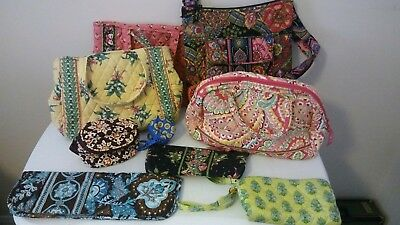Vera Bradley Purses Wallets key cases Retired Patterns Lot of 9 Retired  Used