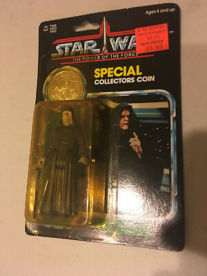 Vintage 1984 The Emperor Star Wars POTF COIN Powers of the Force NR MOC ROTJ