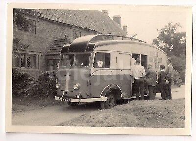 1950s Karrier Stella's Fish Chip Mobile Shop Vintage Lorry Photo 1951 Great Tew