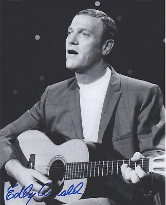 Signed Original B&W Photo of Eddy Arnold of 1960's Music