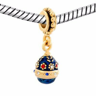 Russian Easter Bracelet Jewelry Egg Best Gift Charms Crystal Necklace Pendant