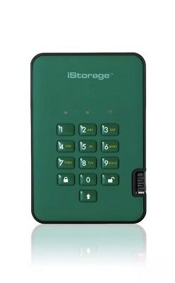 iStorage IS-DA2-256-500-GN 500GB diskAshur2 HDD - Racing Green UK Stock