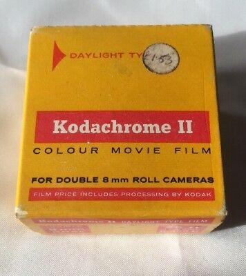 KODAK KODACHROME II COLOUR MOVIE FILM FOR DOUBLE 8mm ROLL CAMERAS 25' EXPIRED