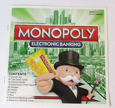 Monopoly Electronic Banking Replacement Unit 6 Credit Cards