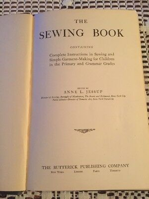 1913 The Butterick Publishing Co. The Sewing Book edited by Anne L. Jessup