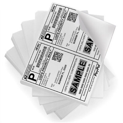 8.5x5.5 Shipping Labels Half Sheet Self Adhesive Postage Labels Paypal USPS UPS