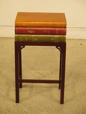 LF44656EC: Leather Book Box on Mahogany Stand