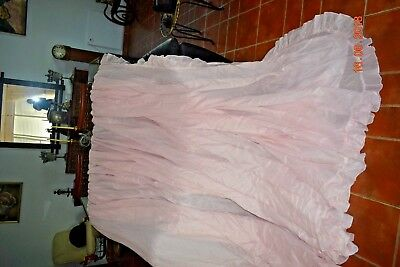 Old Massive French  Pink Curtain  240 Ins Wide 100 Ins Long Lined