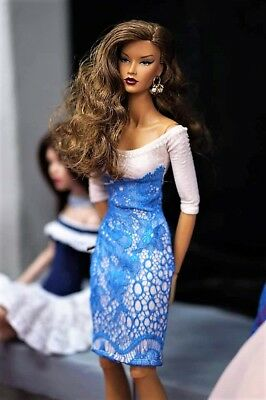 """OOAK fashion dress outfit for FR16 Tulabelle Tonner & similar 16"""" doll"""