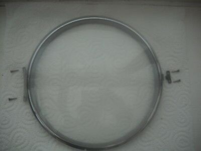 A Good Clean Chrome Bezel & Glass For A Smiths Enfield Mantel Clock.
