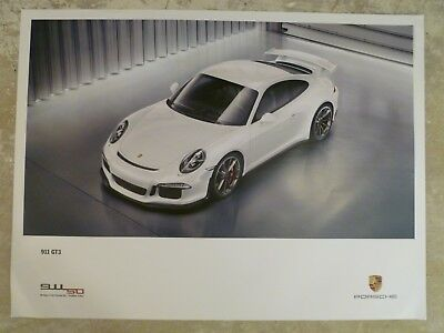 2014 Porsche 911 GT3 Coupe Showroom Advertising Sales Poster RARE!! Awesome L@@K