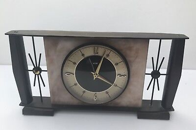 Vintage Retro Metamec Mantel Clock 1960's Battery Movement Untested Spares/Repr