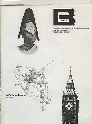 B-LINER/BRANIFF EMPLOYEE MAGAZINE - JANUARY to APRIL, 1978 (2 ISSUES)