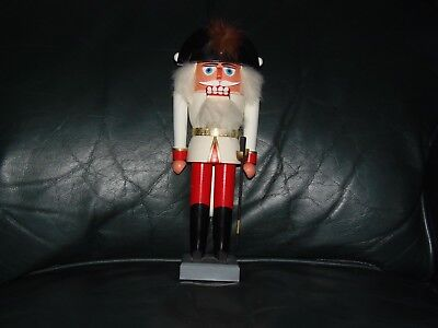 Old German Soldier with Rifle and Fuzzy hat Nutcracker