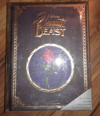 Disney Enesco Beauty & the Beast Storybook Notecard Set Walt Disney Archives NEW