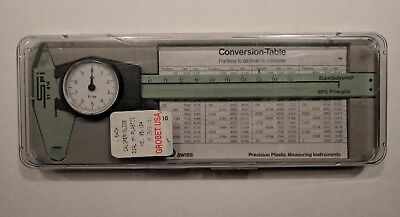 "Spi Dial Caliper 31-414 Swiss Made 6"" Measurement Instrument with case"