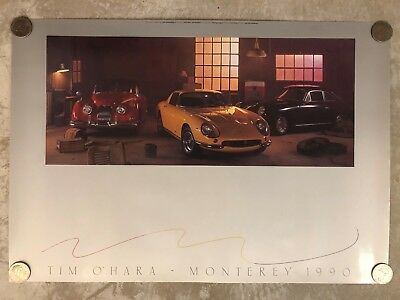 1990 Monterey Auction Jaguar, Ferrari & Porsche Poster RARE!! Awesome L@@K
