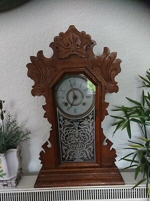 Antique newhaven Clock Ginger Bread American 8 Day Atic Find   Working order