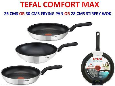 Tefal Induction Comfort Max Choose 26 or 30 cms Frying Pan or 28 cms Stirfry Wok