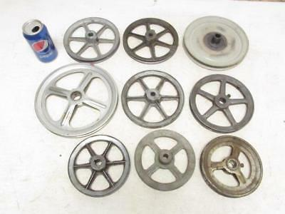 """Lot of 9 V-Belt Single Sheave Groove Motor Pulley 6"""" to 9"""" Pulleys"""