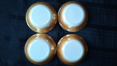 Vintage Fire King 4 Peach Berry Bowls