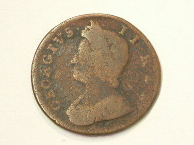 1737 Great Britain Half Penny KM#566 Copper  #1226