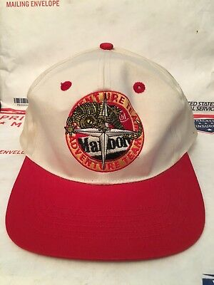 Vintage 90 s Marlboro Adventure Team Mens Baseball Hat Cap Snapback Hip Hop  Rap e4b15c87e38
