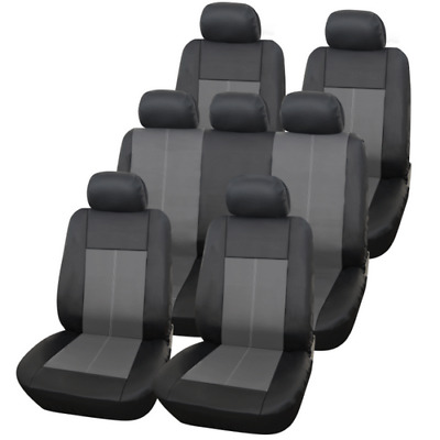 Black 7 Seat Third Row Car Covers Seater Set For Nissan Qashqai 2007 - 2013