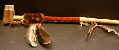 Authentic Canadian Huron-Wendat Ceremonial Peace Pipe Signed Clement Picard.