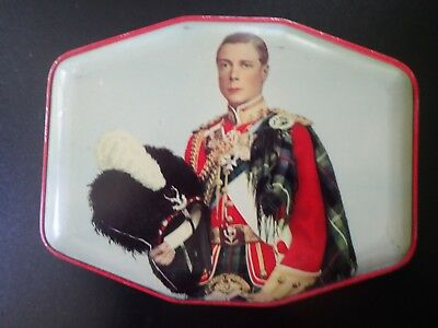 VTG COMMEMORATIVE TIN .KING EDWARD VIII 1930's  TEA CONFECTIONERY
