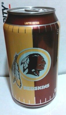 1 Full ~ PEPSI CAN ~ Official Soft Drink Of The REDSKINS ~ (my id: c)