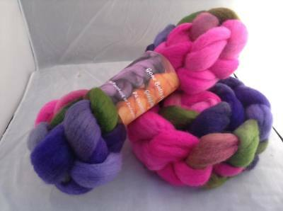 Hand Dyed Wool Fibre Roving 103 22m 100g Felting Spinning Arts & Crafts Soft