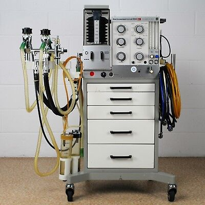 DRAGER NS 656 Spiromat (Narkosespiromat) Anesthesia Machine With Trolley Vintage