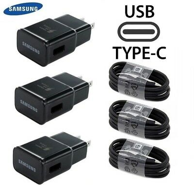 Samsung Adaptive Fast Travel Wall Charger for Galaxy S8 S9 Plus Note 8 w/Cable