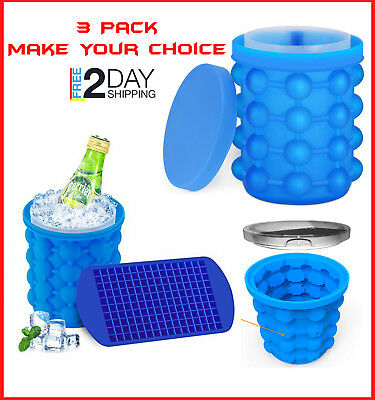 Large Ice Cube Magic Maker Revolutionary Space Saving Ice Genie Maker with Tray