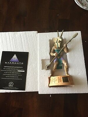 Stargate Anubis Collector Figurine Original box W/ COA