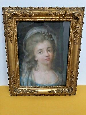 18th Century Pastel of young woman