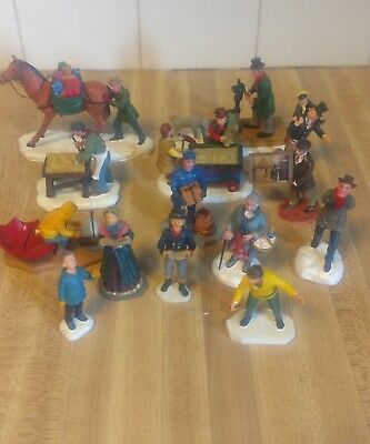 Lot of 14 Lemax Figurines