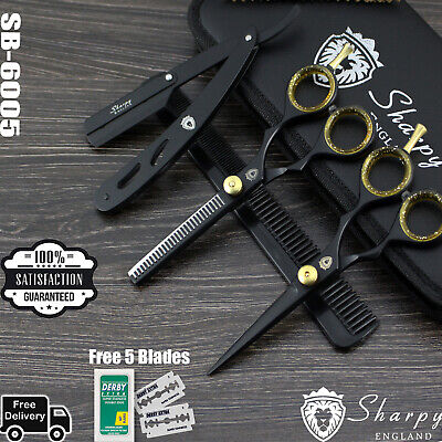 Black Professional Dog Cat grooming scissor Pet grooming scissors pets shears UK
