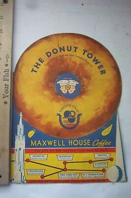 The Donut Tower Menu From The 1939 GGIE Exhibit Treasure Island Maxwell Coffee