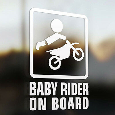ALS_ Baby Rider On Board Words Sign Car Stickers Warning Cute Rear Window Decal