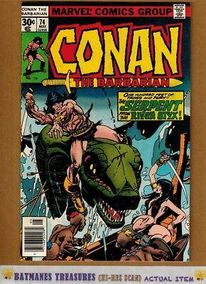Conan the Barbarian #74 (9.2-9.4) NM By Gil Kane 1977 Bronze Age Key Issue