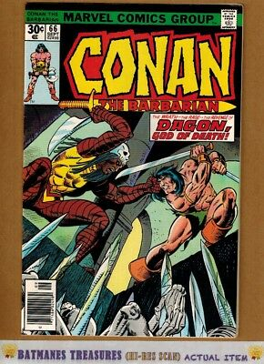 Conan the Barbarian #66 (9.2-9.4) NM By Gil Kane 1976 Bronze Age Key Issue