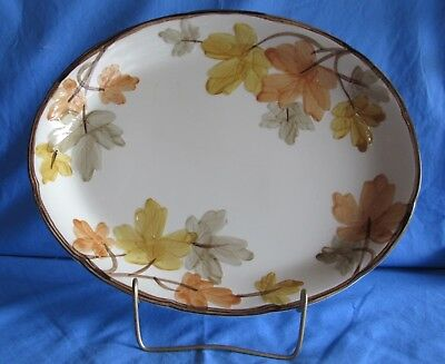 """Franciscan October, Autumn Leaves 14"""" X 11 1/2"""" Oval Serving Platter. Beautiful"""
