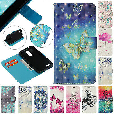 For LG G7 ThinQ K8 K10 2017 Phone Case Magnetic Strap Wallet Card Leather Cover